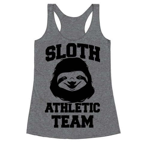 Sloth Athletic Team Racerback Tank Top
