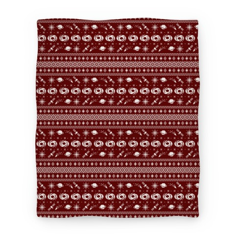 Interstellar Christmas Sweater Pattern Blanket