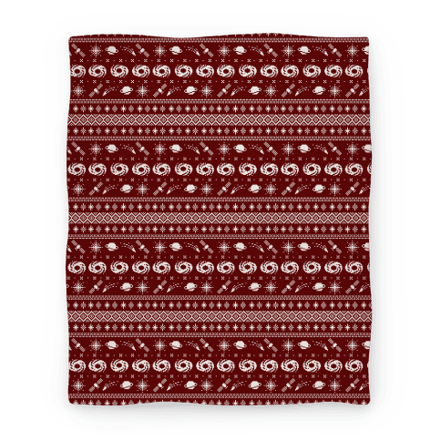 Interstellar Christmas Sweater Pattern Blanket