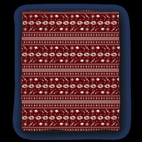 Christmas Sweater Pattern.Interstellar Christmas Sweater Pattern Blanket Lookhuman