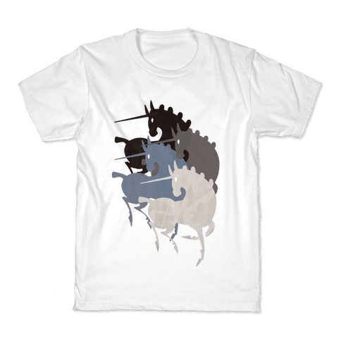 Unicorns Of The Apocalypse Kids T-Shirt