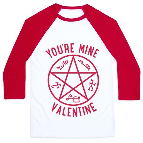 Devil's Trap Supernatural Valentine Baseball Tee