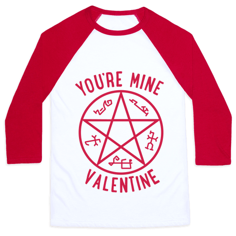 Devil's Trap Supernatural Valentine Baseball Tee