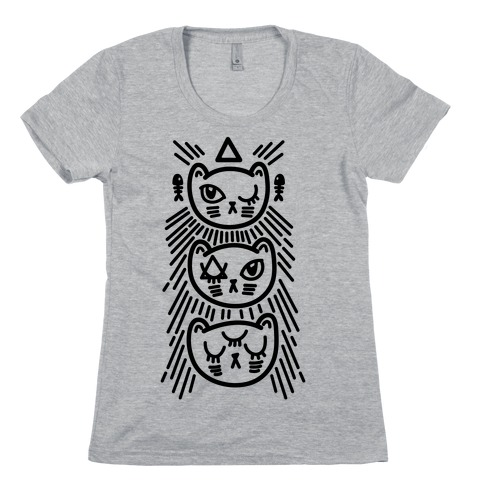 Occult Kitties Womens T-Shirt