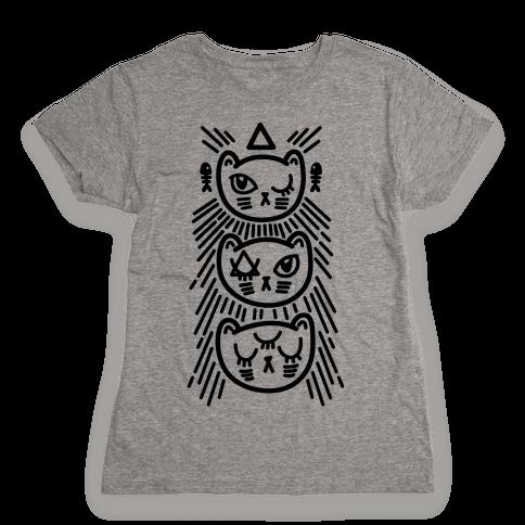 Occult Kitties Womens T-Shirt