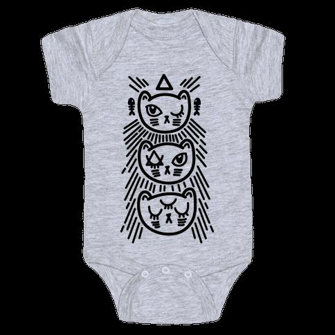 Occult Kitties Baby Onesy
