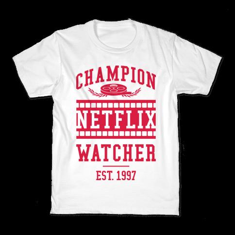 Champion Netflix Watcher Kids T-Shirt