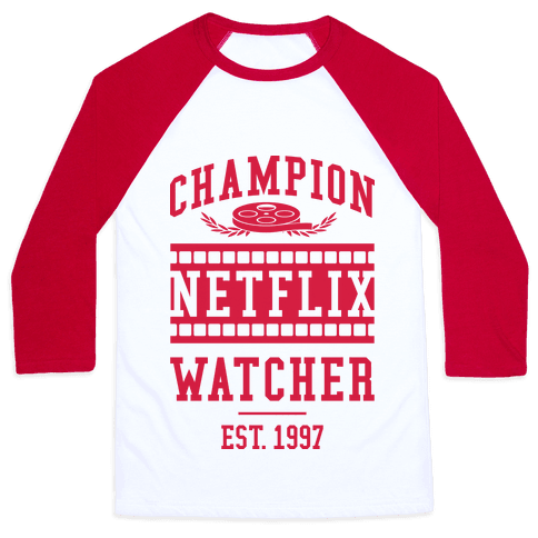 Champion Netflix Watcher Baseball Tee