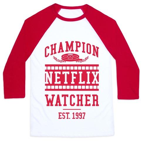 Champion Netflix Watcher Baseball Tee
