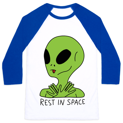 Rest In Space Baseball Tee