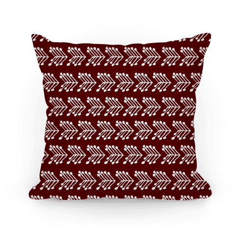 Cute Maroon Chevron Pattern Pillow
