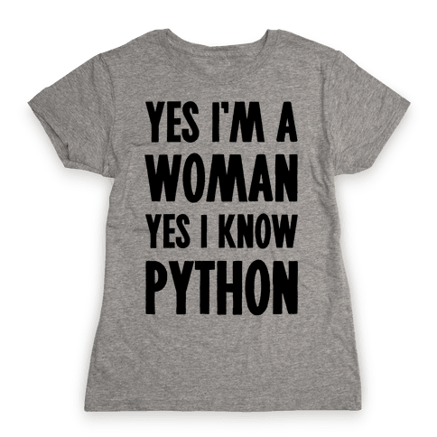Yes I am a Woman Yes I Know Python Womens T-Shirt