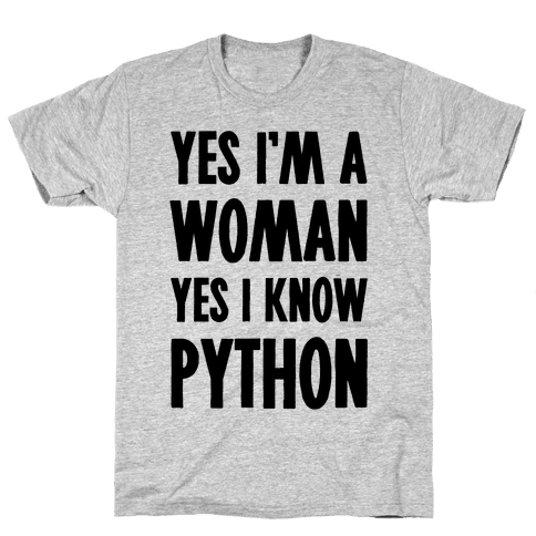 Yes I am a Woman Yes I Know Python Mens T-Shirt