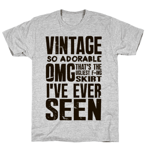 Vintage So Adorable Mens T-Shirt