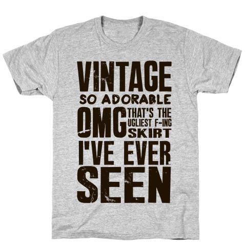 Vintage So Adorable Mens/Unisex T-Shirt