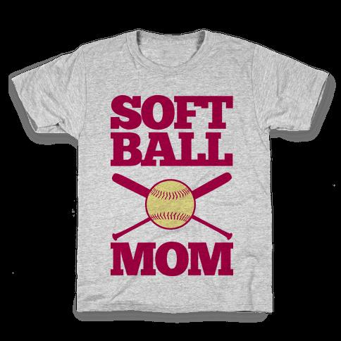 Softball Mom Kids T-Shirt
