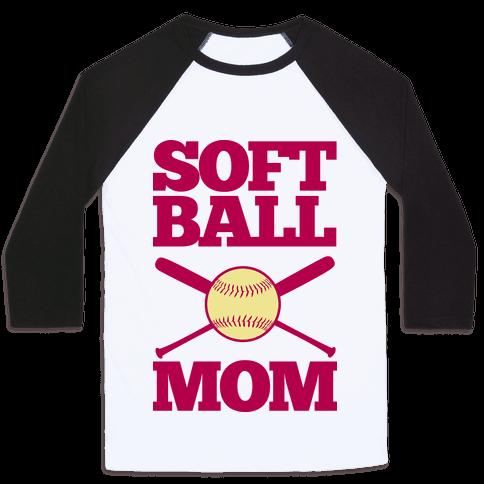 Softball Mom Baseball Tee