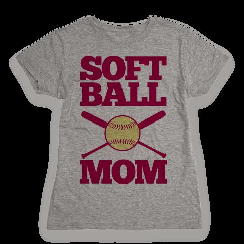 Softball Mom Womens T-Shirt