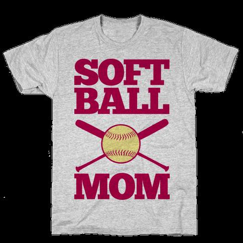 Softball Mom Mens T-Shirt
