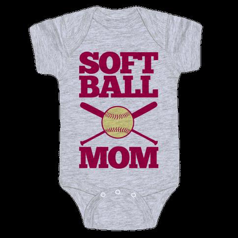 Softball Mom Baby Onesy