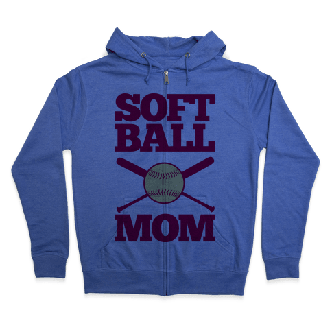 Softball Mom Zip Hoodie