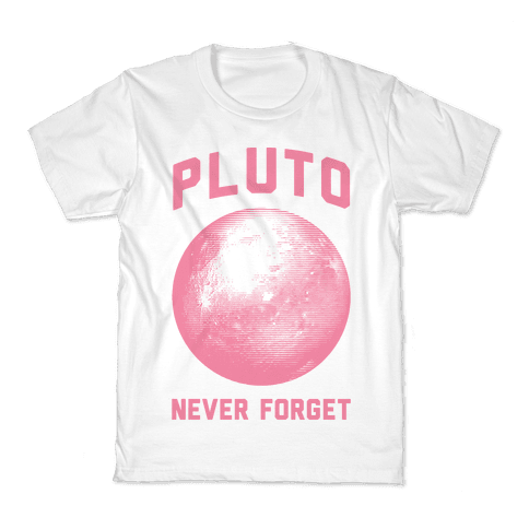 Pluto Never Forget Kids T-Shirt