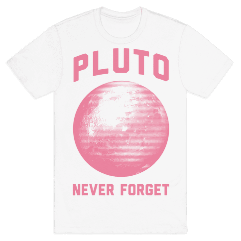 Pluto Never Forget Mens T-Shirt