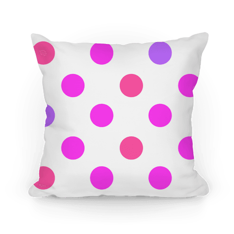 Big Polka Dot Pillow (pink) Pillow