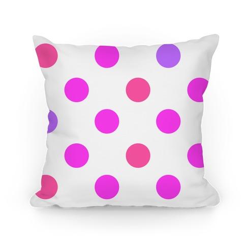 Big Polka Dot Pillow (pink)