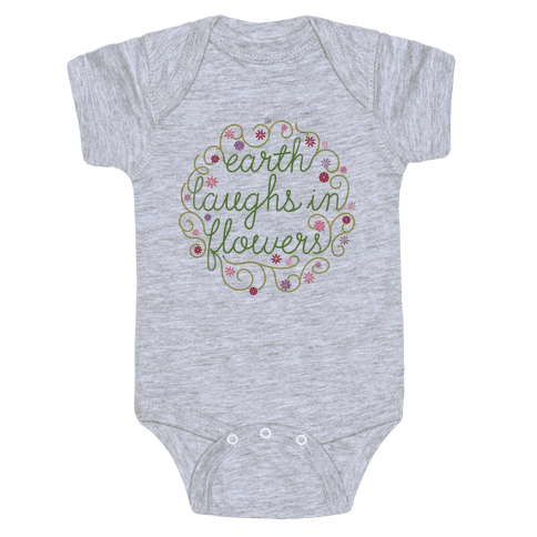 Earth Laughs In Flowers (Emerson Quote) Baby Onesy