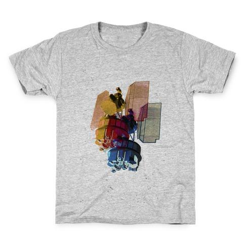 TriColor Space Satellite Kids T-Shirt