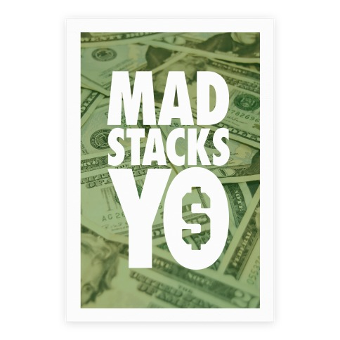 Mad Stacks Yo Poster
