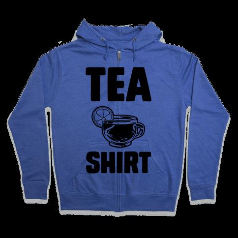Tea Shirt Zip Hoodie