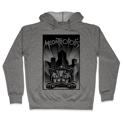 Meowtropolis (Metropolis Parody) Hooded Sweatshirt