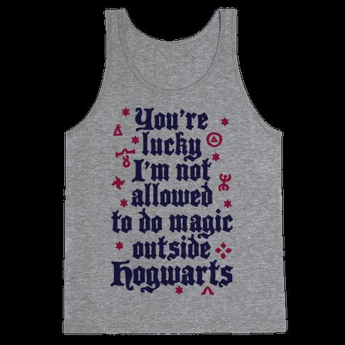 Outside Hogwarts Tank Top