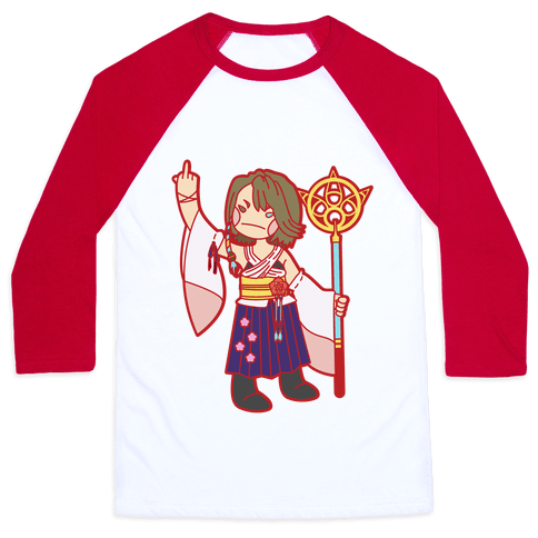 Yuna Giving The Finger Baseball Tee