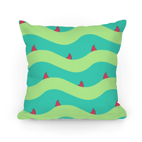 Green Shark Fins Waves Pattern