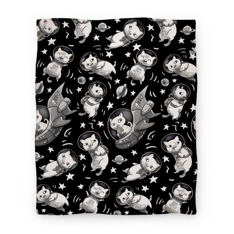 Cats In Space Blanket