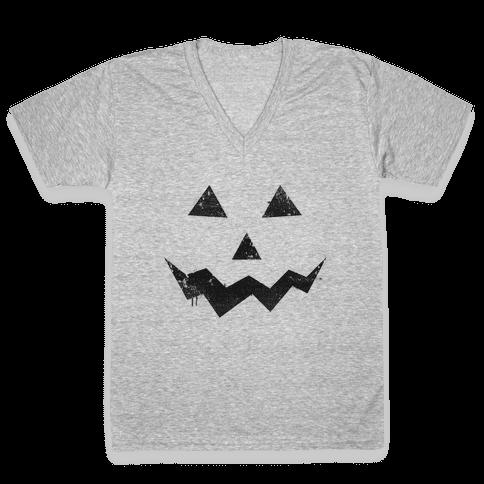 Jack Lantern V-Neck Tee Shirt