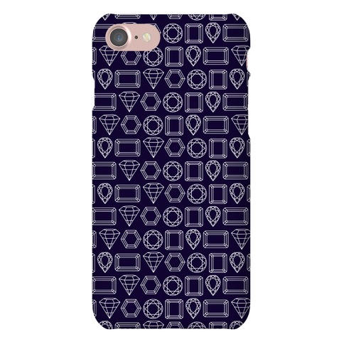 Jewel Outline Pattern Phone Case