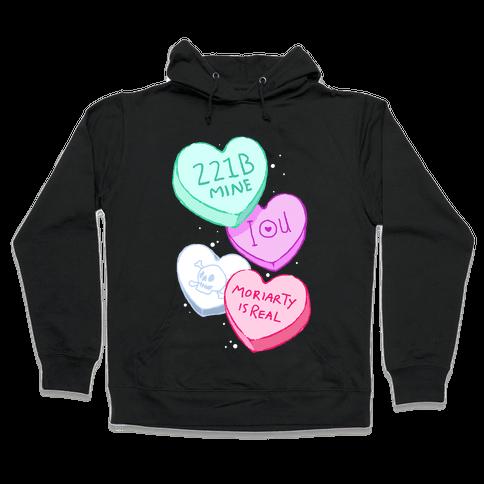 Sherlock Valentines Hearts Hooded Sweatshirt