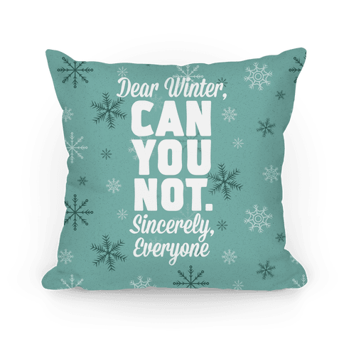 Dear Winter Pillow