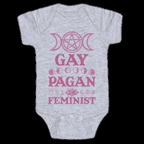 Gay Pagan Feminist Baby Onesy