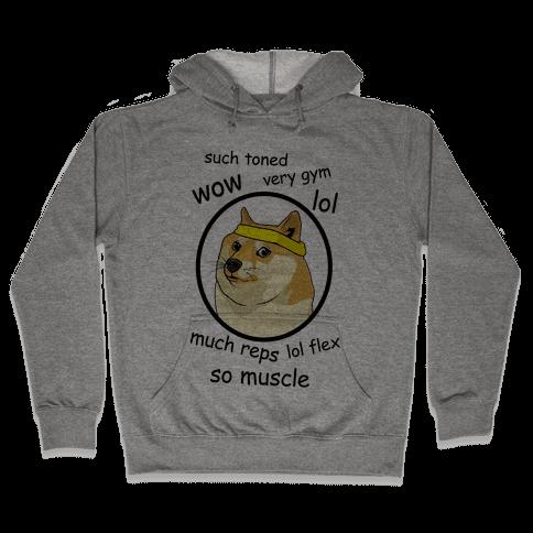 Fitness Doge Hooded Sweatshirt