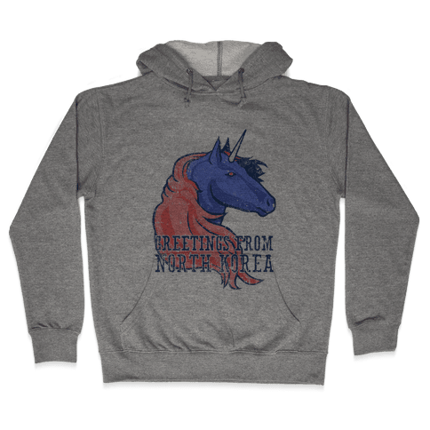 North Korean Unicorn (Vintage) Hooded Sweatshirt