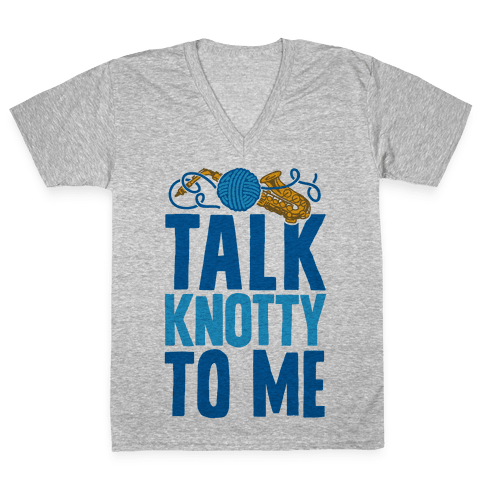 Talk Knotty To Me V-Neck Tee Shirt