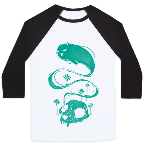Cat Ghost Baseball Tee
