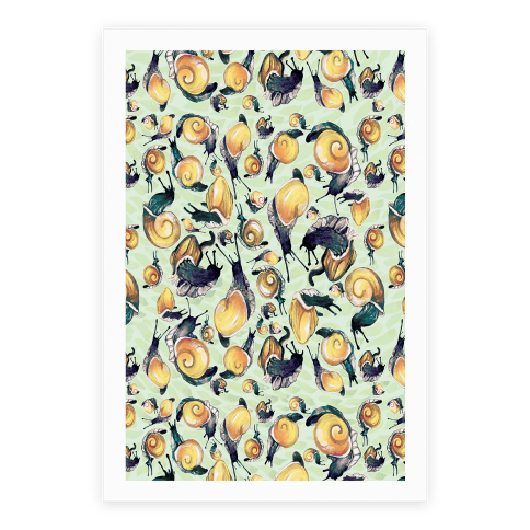 Golden Snail Shells Poster