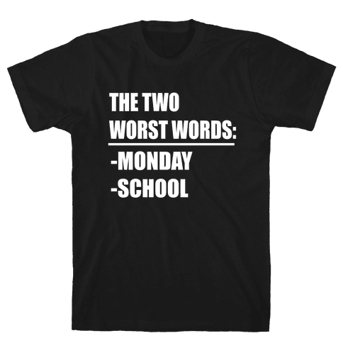 The Two Worst Words... Mens T-Shirt