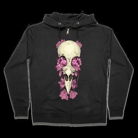 Bird Skull Zip Hoodie